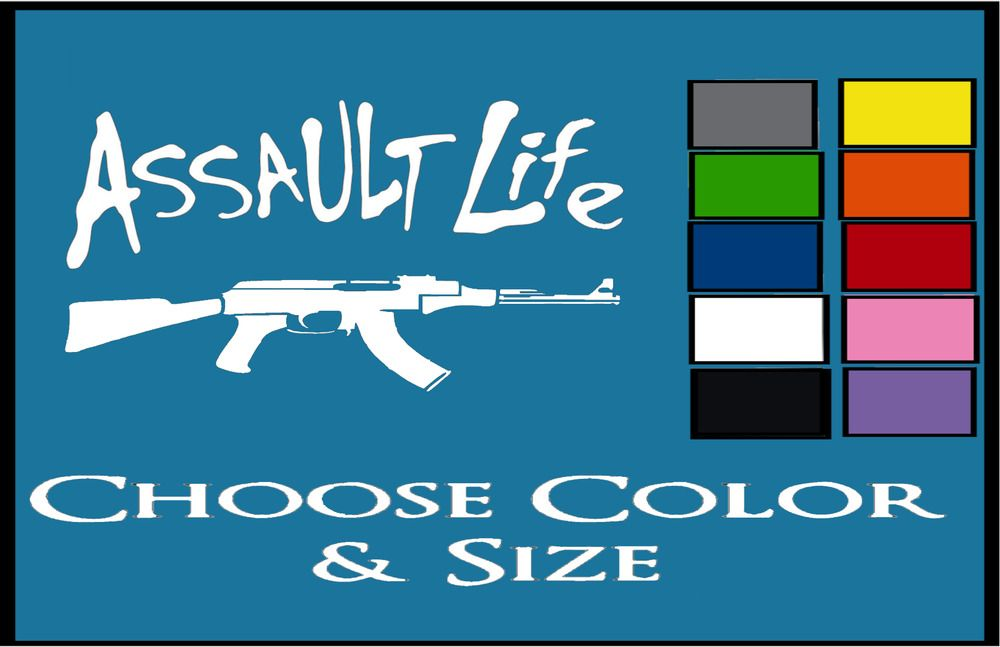 ASSAULT LIFE AK47 STICKER \