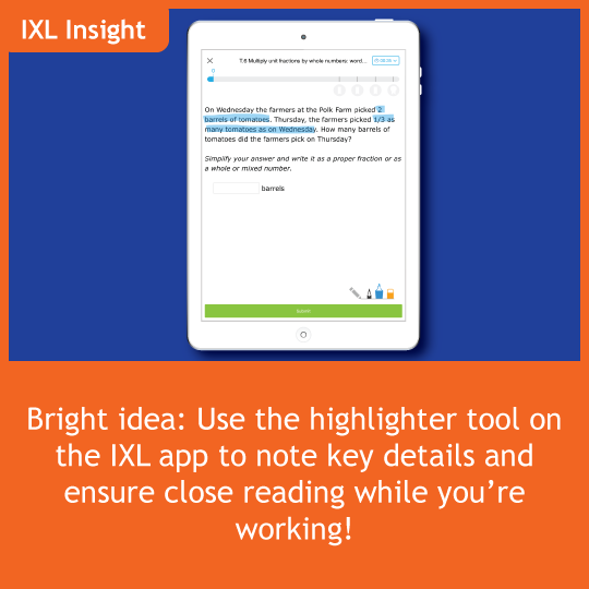 Do you use the IXL app? Here's a bright idea use the