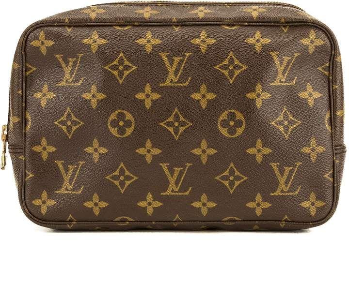Louis Vuitton Monogram Canvas Trousse Toilette 23 Cosmetic Pouch Pre Owned Louis Vuitton Monogram Louis Vuitton Makeup Bag Louis Vuitton