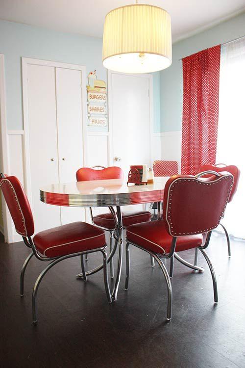 23 red dinette sets - vintage kitchen treasures | Retro ...
