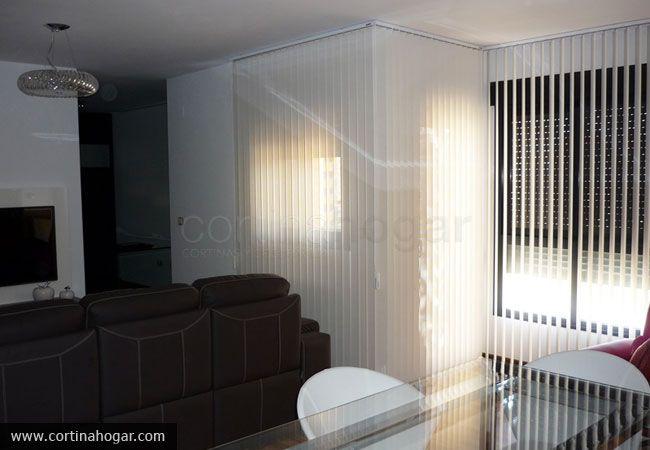 Sal n de ltima tendencia terminado con cortina vertical - Cortinas ultimas tendencias ...