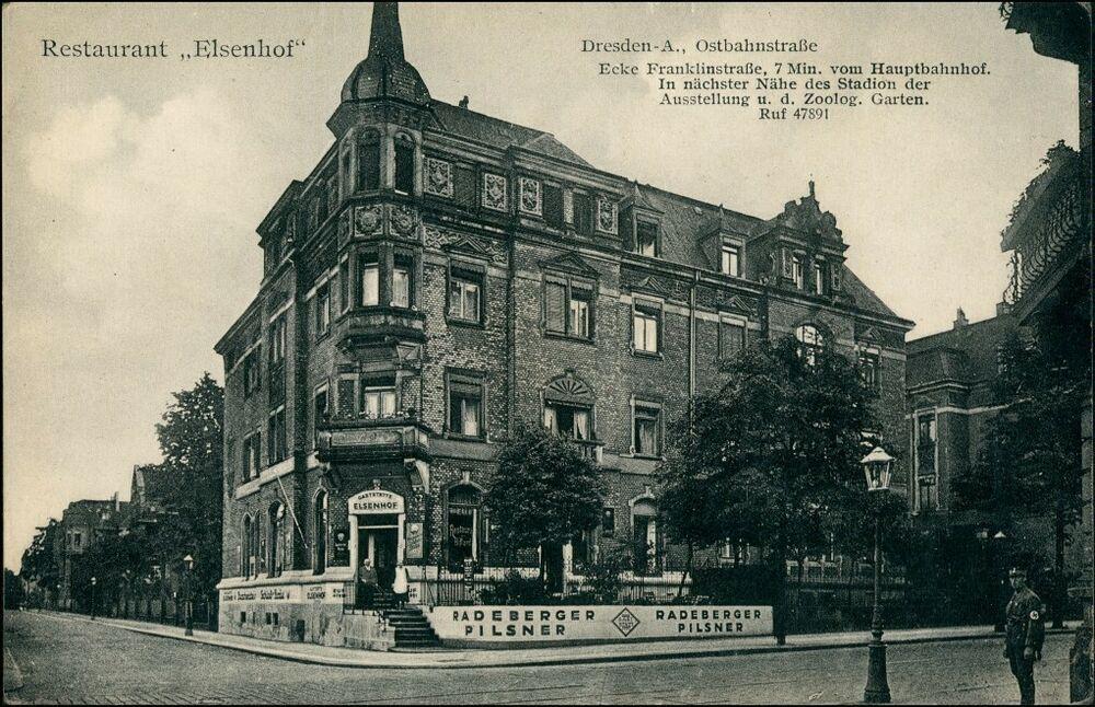 Finden Sie Top Angebote Fur Sudvorstadt Dresden Ostbahnstrasse Ecke Franklinstrasse Restaurant Elsenhof 1912 Bei Ebay Kostenlose Dresden Pilsner Zwinger Dresden