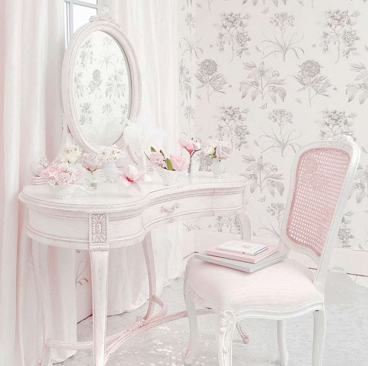 Shabby chic dressing table my edit cuartos - Habitaciones shabby chic ...