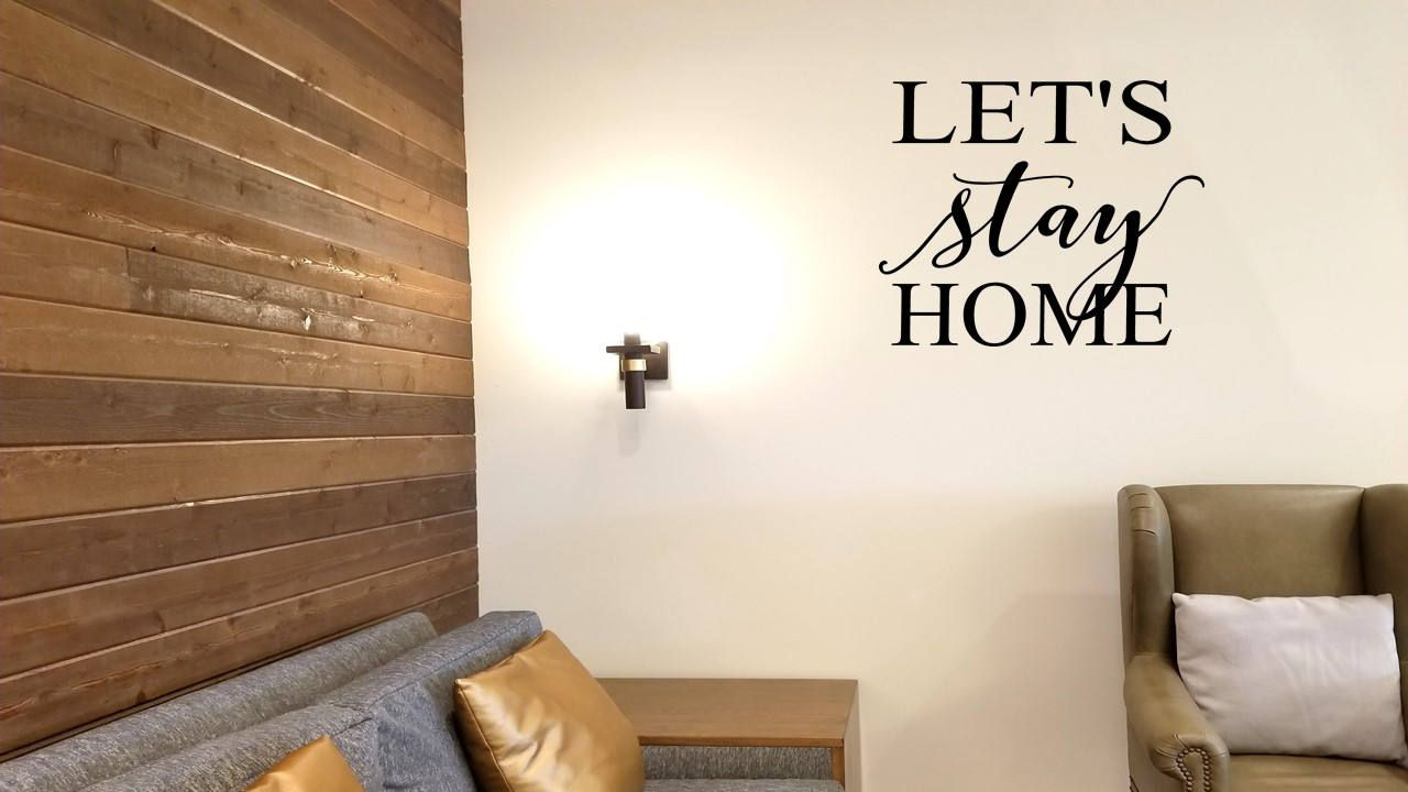 Letus stay home wall decalwall stickerwall tattoomirror decal
