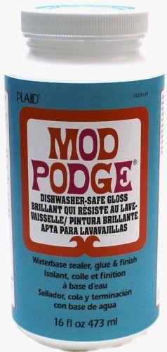 Mod Podge Plaid Dishwasher Safe Gloss 16 Ounce Mod Podge Http Www Amazon Com Dp B00j2tjf6a Ref Cm Sw R Pi Dp Ufrktb12reb3gkfr Mod Podge Podge Dishwasher