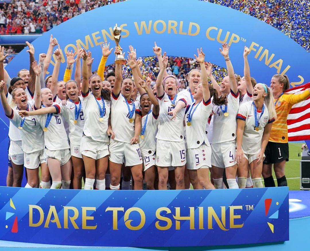 Dare To Shine U S Women S Soccer Team Wins The Fifa Women S World Cup Fifa Women S World Cup Uswnt Megan Rapinoe