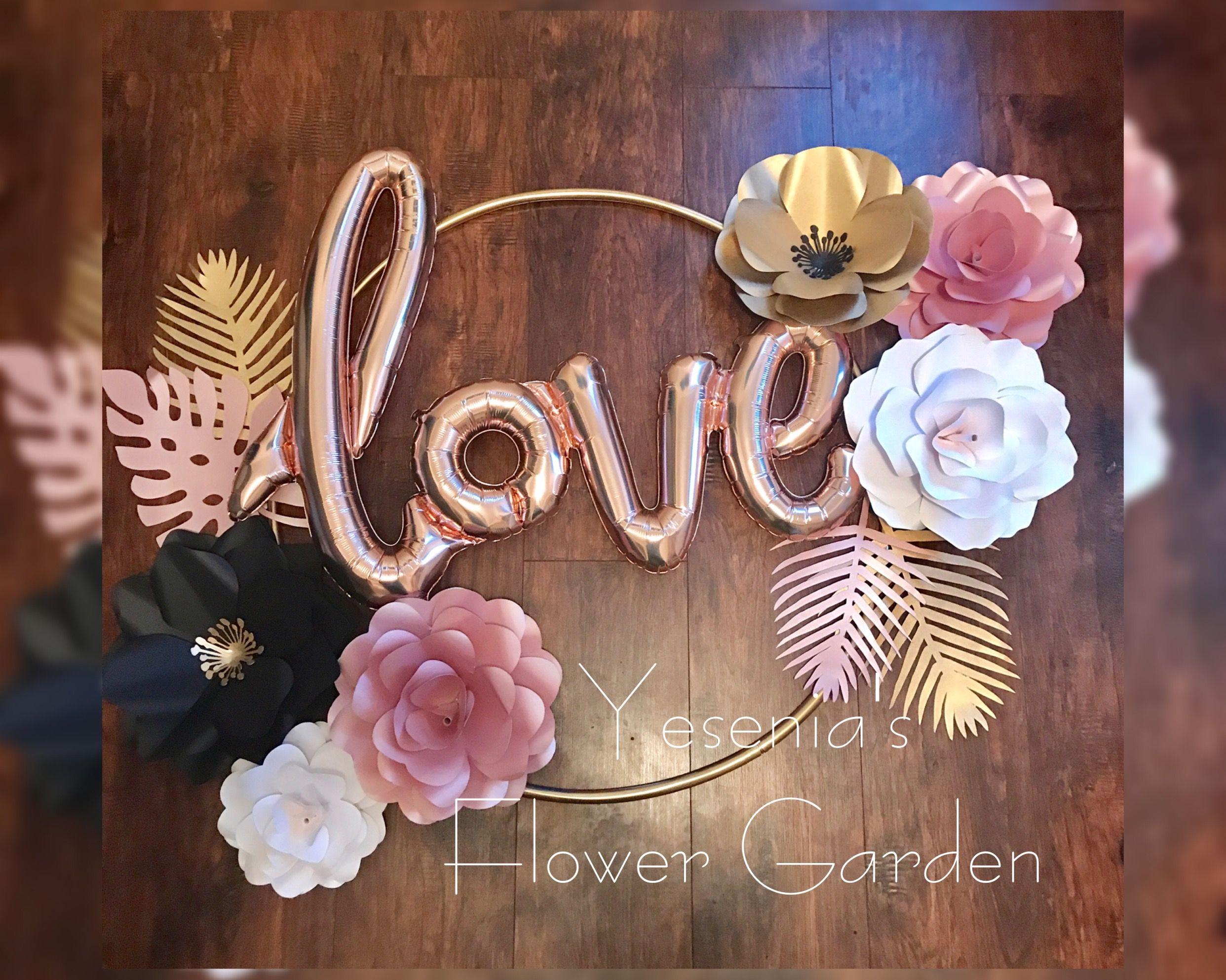 Paper Flowers Love Set Pinterest Hula Hoop Hula And Flowers