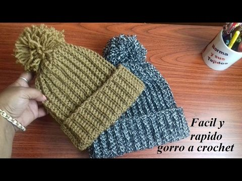 Gorros con trenzas gorditas y borde cangrejo puff a crochet - Tejiendo  Perú! - YouTube 06a38a5d836
