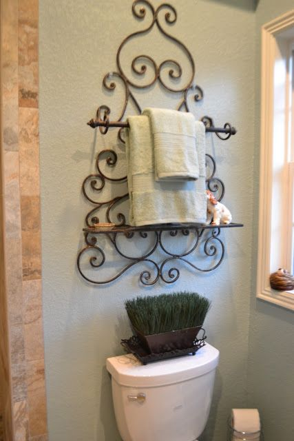 Kristen 39 s creations part 2 of my aunt and uncle 39 s - Wrought iron towel racks bathroom ...