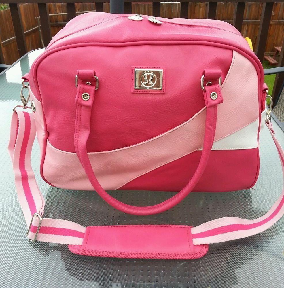 Lululemon Leather Rollercoaster Bowling Bag Pink