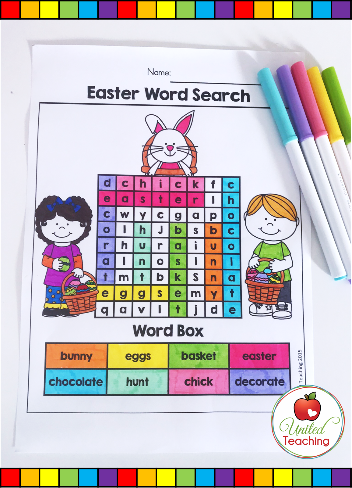 Easter Literacy Worksheets Kindergarten