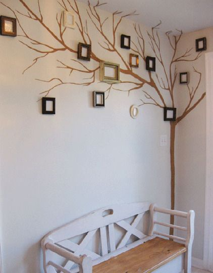 You could put photos of relatives in the frames, and make it a family tree (see what I did there?)