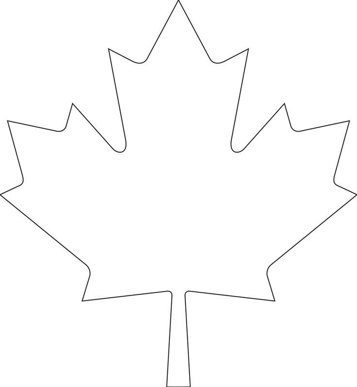 Downloadable maple leaf template for your Canada Day crafts | Canadian Living