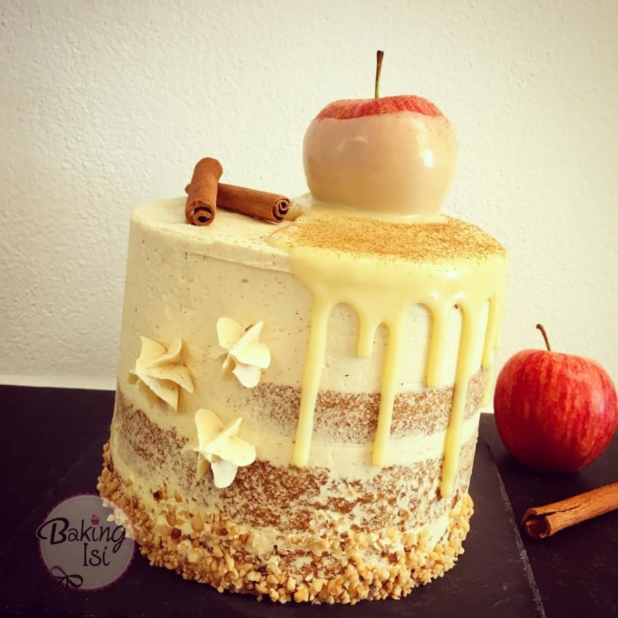Apple Cinnamon Drip Cake Cake By Baking Isi Drip Cakes Cake Gourmet Cakes