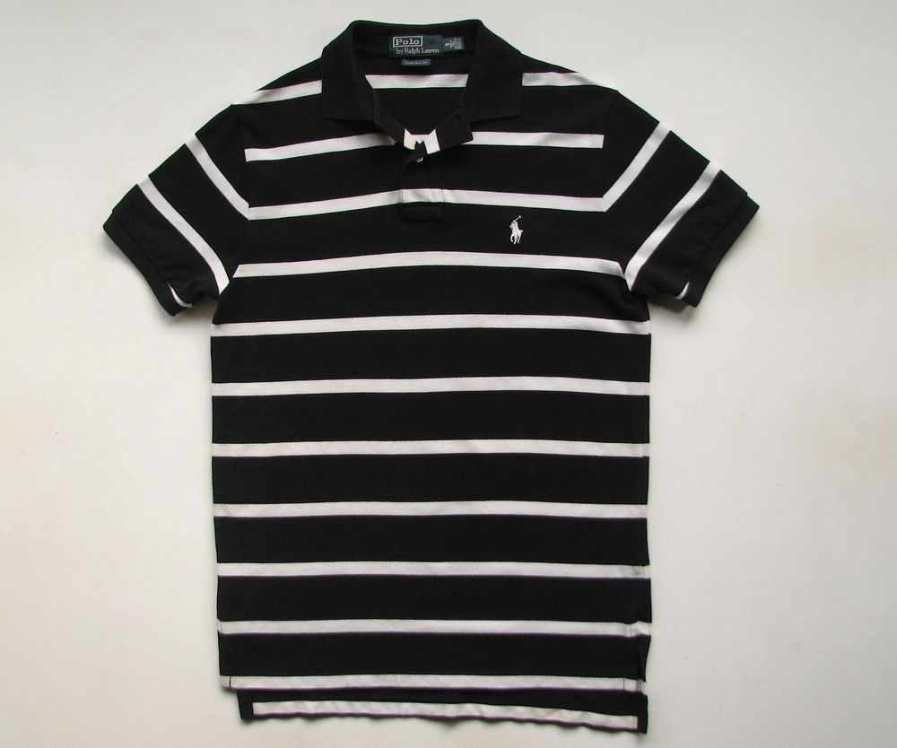 Black And White Striped Ralph Lauren Polo