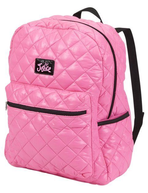 Nwt Justice Girls Pink Quilted Rucksack Backpack Tote Bag Girls Bags Backpack Tote Bag Tote Backpack