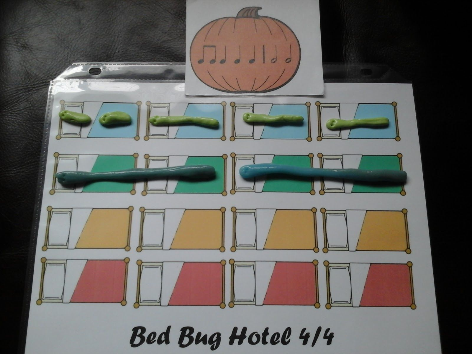 Heidi's Piano Studio: Teaching Rhythm in the Bed Bug Rhythm Hotel #teaching rhythm #musicgames