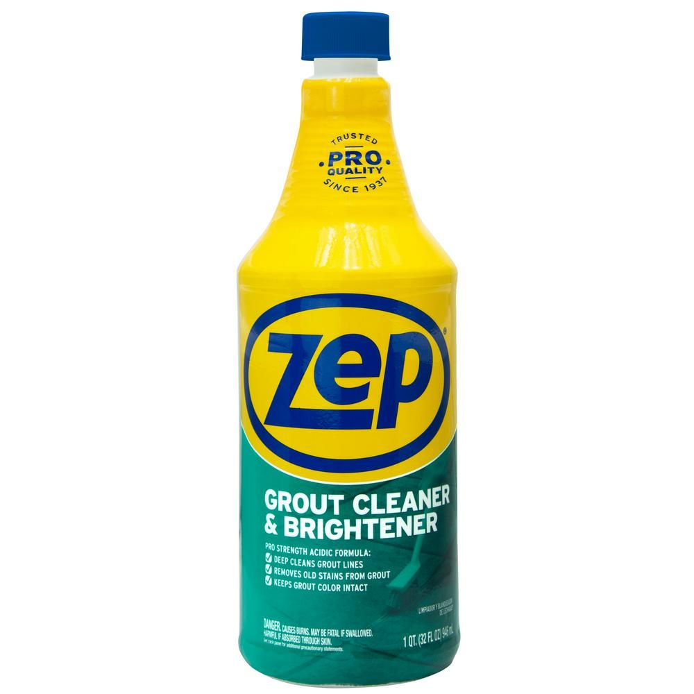 Zep 32 Fl Oz Grout Cleaner And Brightener Zu104632 The Home Depot In 2020 Grout Cleaner Diy Grout Cleaner Diy Grout