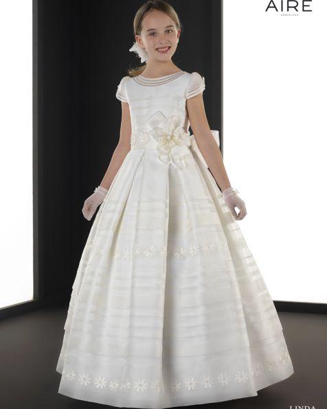 053a1fe4f Linda vestido de comunión corte evasé
