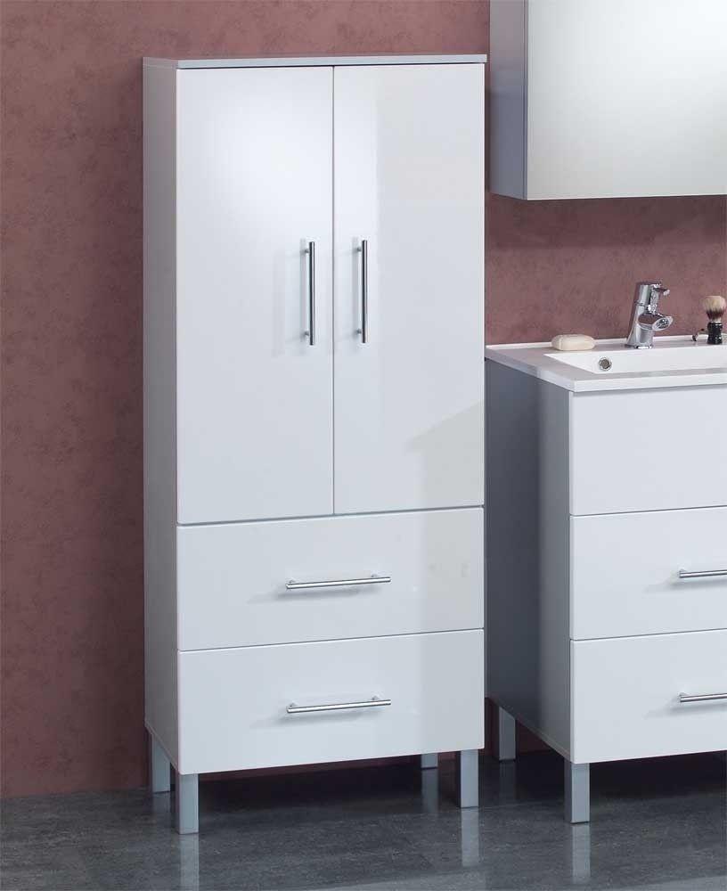 Badezimmerschrank Edna In Weiss Gunstig Bei Wohnen De Kaufen Kleiderschrank Gunstig Handtuchhalter Design Badezimmer Schrank