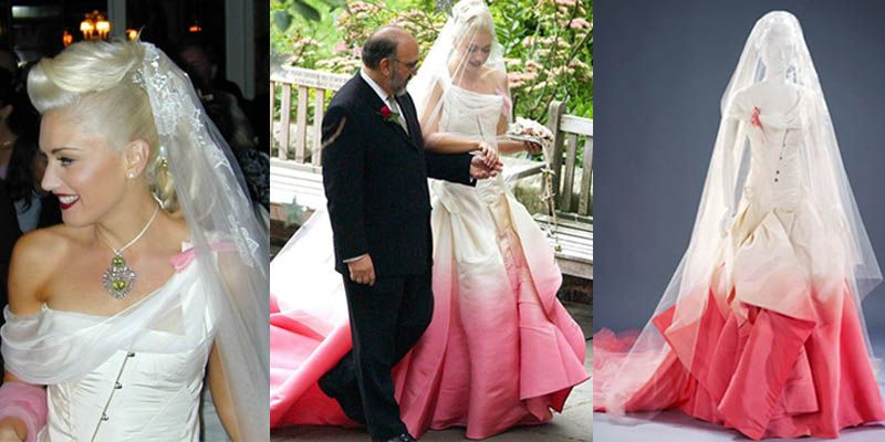 Gwen Stefani Wedding Dress Pink