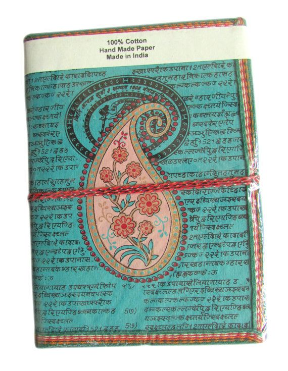 Big Book Paisley Indian Art Journal Sea Blue by IndianJournals, $8.99