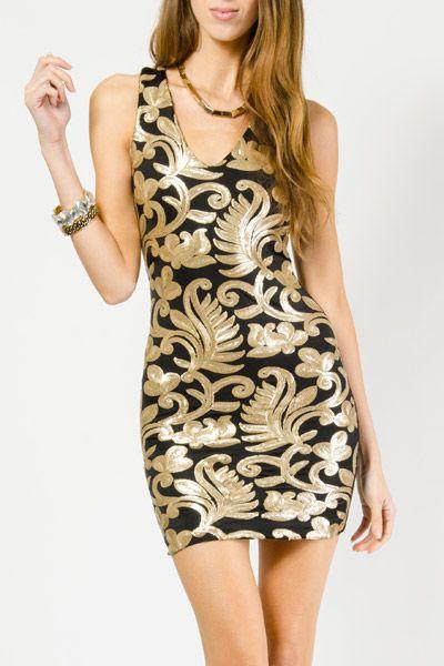 Baroque Sequin Mesh Dress $18.99