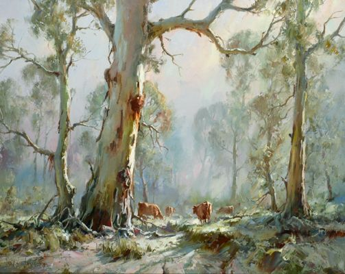 Morning Pastoral Adelaide Hills Ivars Jansons Tree Art