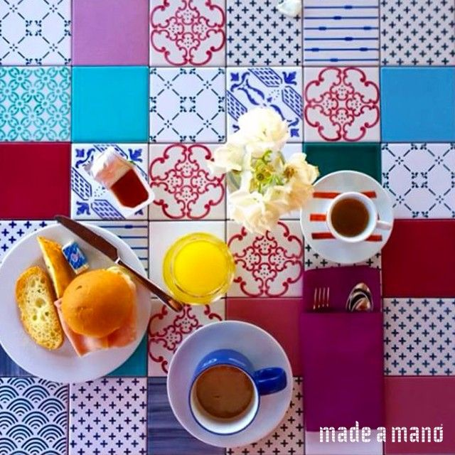 Good Morning Patchwork Tiles On Our Table B B Avocado Giardini