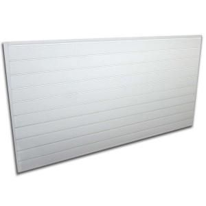 Proslat Pvc Slatwall 8 Ft X 4 Ft White 88102 The Home Depot Slat Wall White Wall Paneling Wall Paneling
