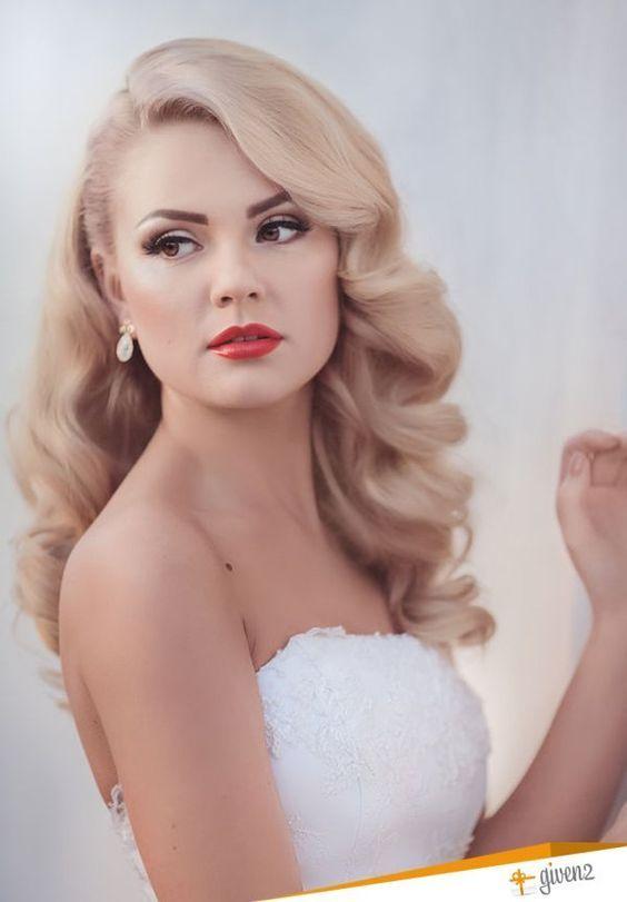 The Great Wedding Hairstyle Debate Up Or Down Beautiful Blonde Hair Wedding Hair Side Vintage Wedding Hair