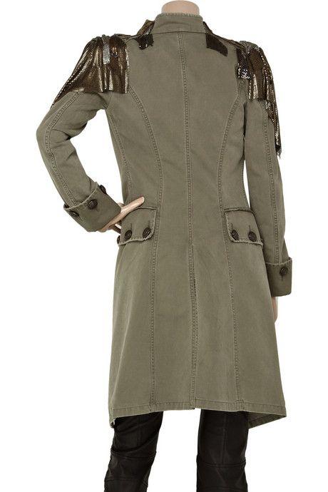 Balmain Embellished cotton-canvas Napoleon coat2