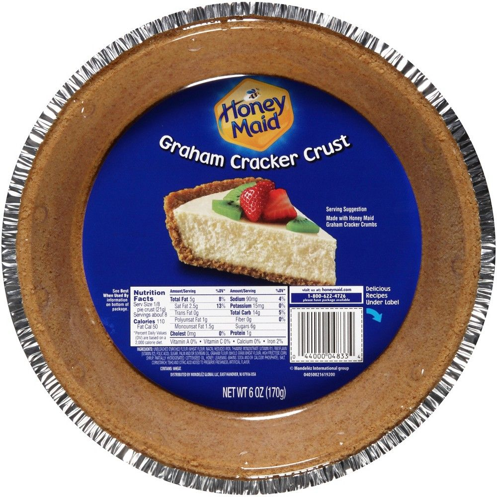 Honey Maid Graham Cracker Pie Crust 8in 6oz In 2020 Honey Maid Graham Crackers Honey Maid Graham Cracker Crust Graham Cracker Crust Pie