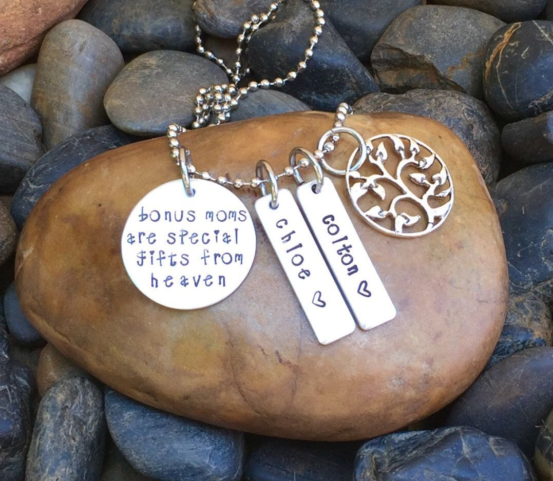 Bonus mom necklace mothers day gift mothers etsy