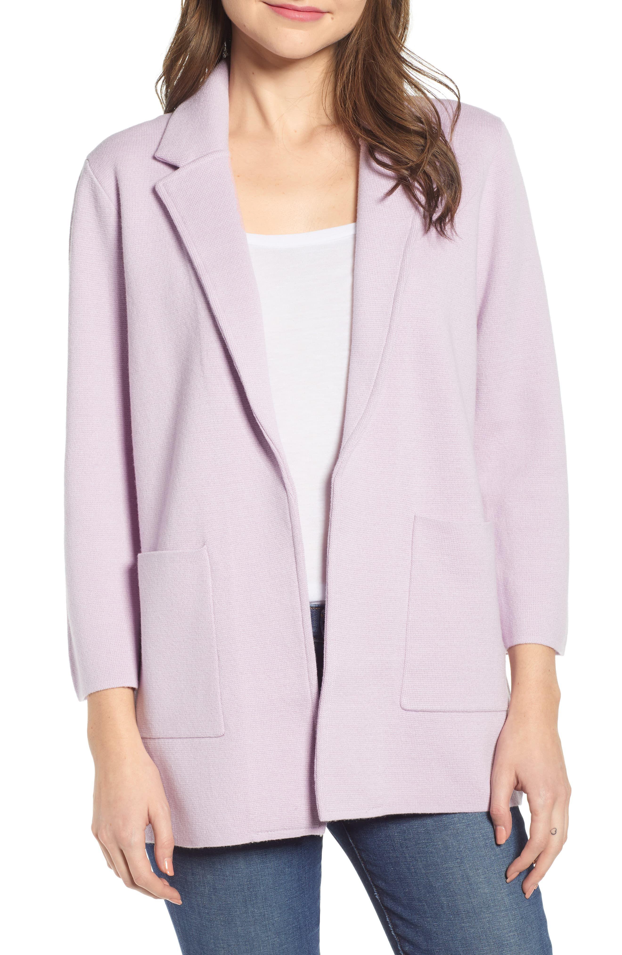 e8a9230018a0 Women's J.crew New Lightweight Sweater Blazer, Size Medium - Pink ...