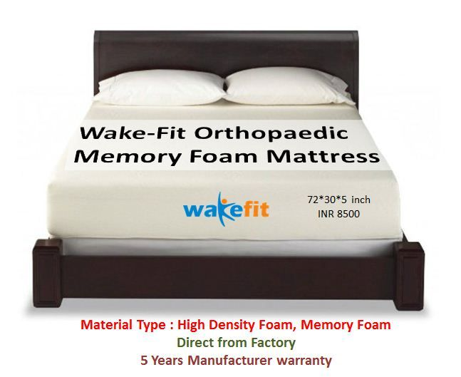 Pin On Wakefit All Products, Wakefit Orthopaedic Memory Foam Mattress Queen Bed Size