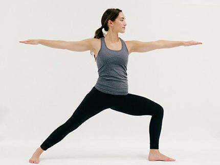 warrior ii yoga in 2020  morning yoga poses yoga poses