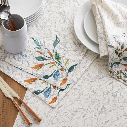 Our 100 Cotton Napkins Are Printed With Our Exclusive Floral