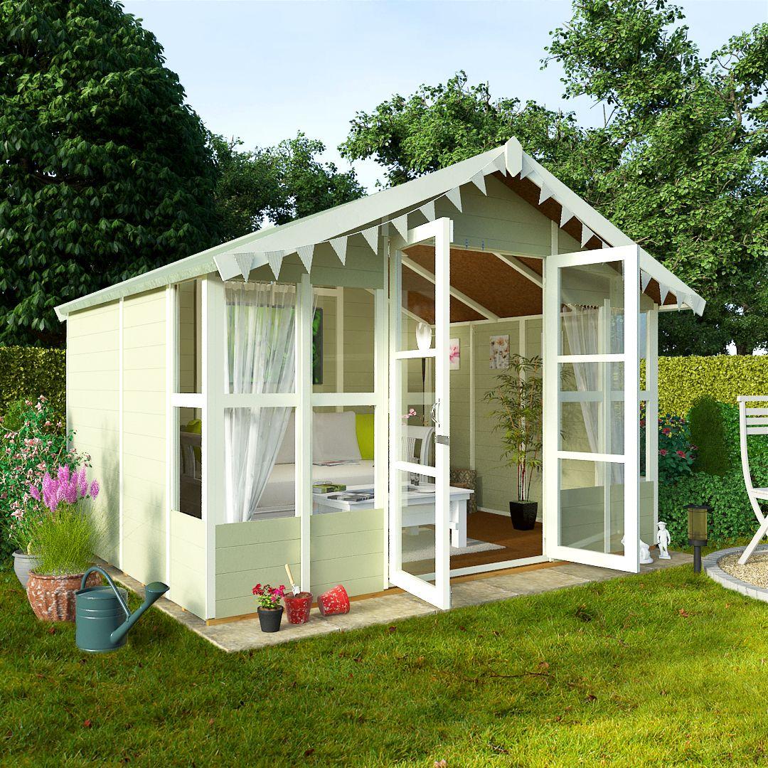 Garden Sheds 8x10 billyoh 8 x 10 lucia tongue and groove garden summerhouse 4000