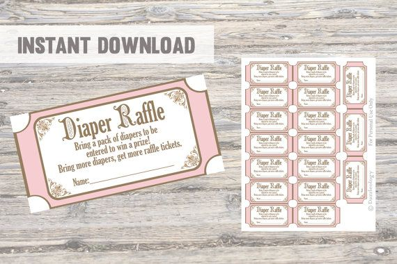 diaper raffle tickets elegant once upon a time by