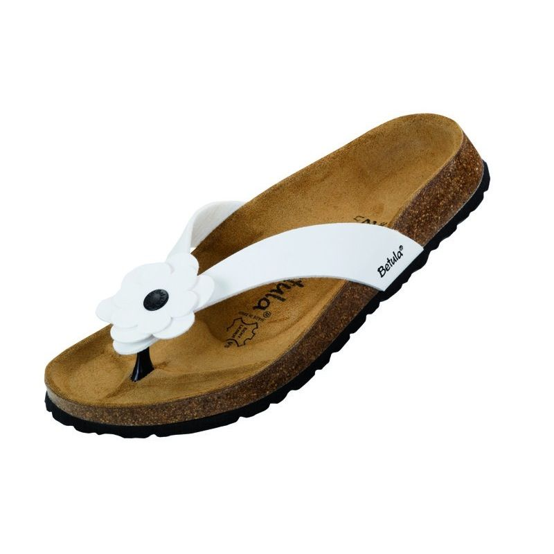 a177bd97563 Betula by Birkenstock Lene Zehentrenner - Color White - width narrow Flats