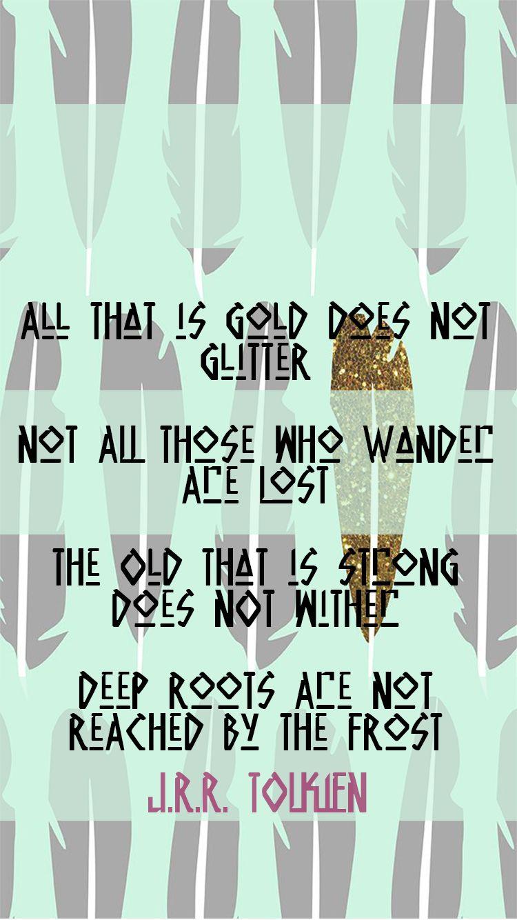 Tolkien Quotes Iphone Wallpaper