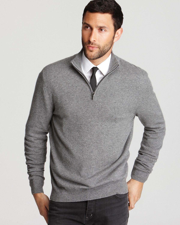 The Men\u0027s Store at Bloomingdale\u0027s Cashmere Half Zip Sweater