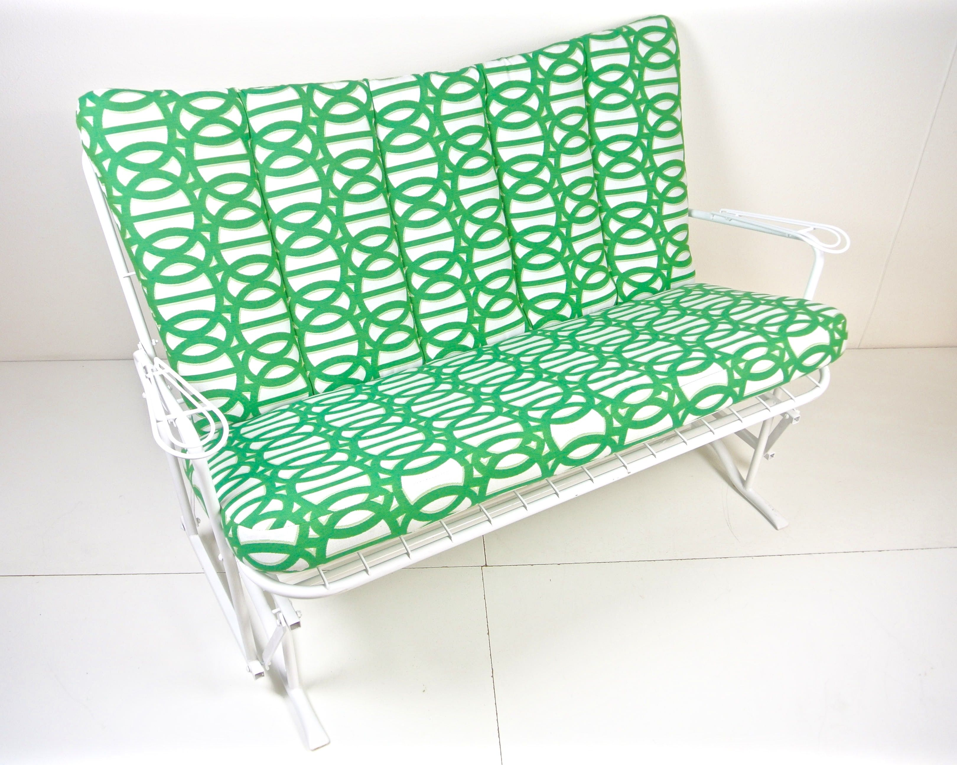 Custom Outdoor Furniture Cushions.Homecrest Loveseat W Custom Outdoor Cushion Made By