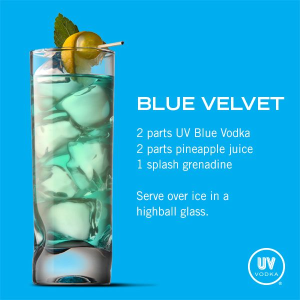 uv blue mixed drinks