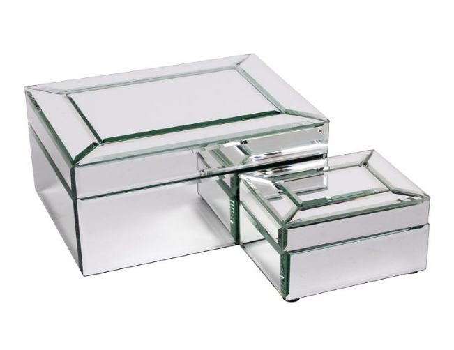 Bevelled mirror jewellery box Online Store Kristy Lee Interiors