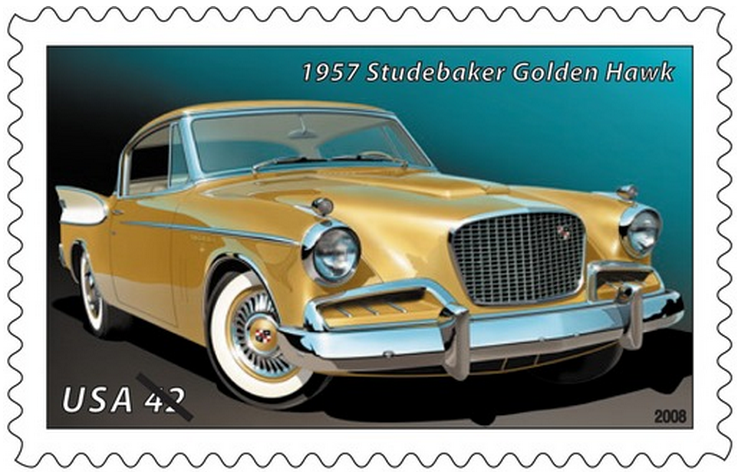 The 1957 Golden Hawk -- Studebaker's distinctive hardtop coupe -- combined the best elements of a sports car and a family sedan. With a body design based on the 1953 Studebaker Starliner, the Golden Hawk featured two-tone paint and outward-leaning tail fins.
