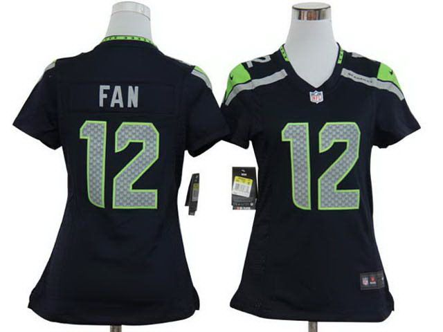 Nike Nfl Seattle Seahawks 12 Fan Blue Women Jersey Nike Nfl Jersey Outfit Nfl Seattle