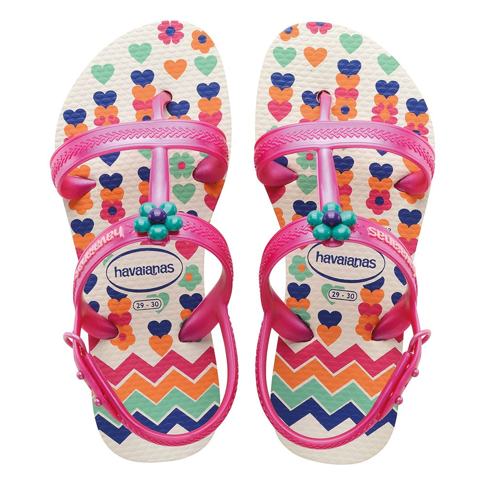Take a look at this Havaianas White Joy Spring Sandal - Girls & Boys today!
