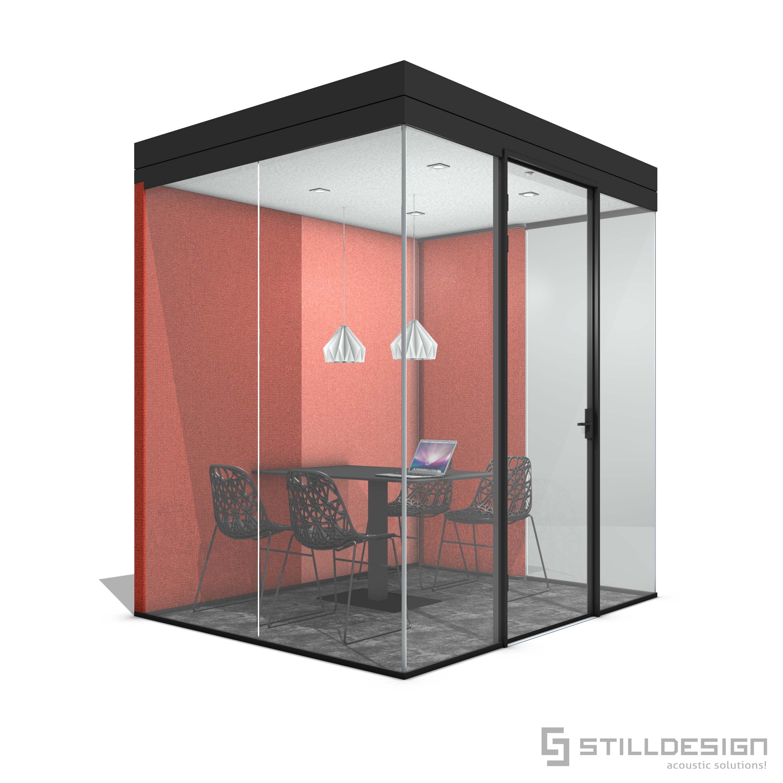 Bubble 3G Black aluminium frame. A plesant workbooth for